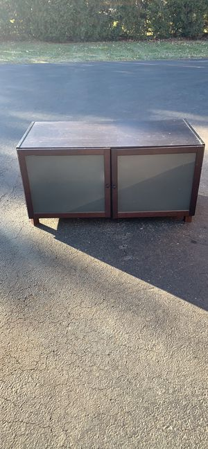 T.V. Stand-Storage Cabinet Expresso Finish adjustable shelving for Sale in Addison, IL