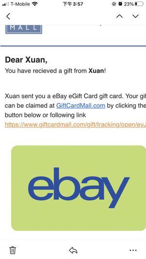 new ebay egift card for Sale in Framingham, MA