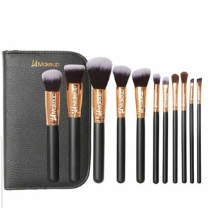 11 pcs professional Makeup brushes set with makeup bag from LA Makeup for Sale in Los Angeles, CA