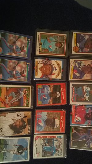 TIM RAINES BASEBALL CARDS for Sale in Cleveland, OH