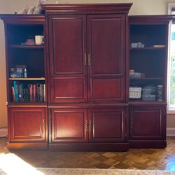 Wood Unit With Bookshelves for Sale in Long Branch,  NJ