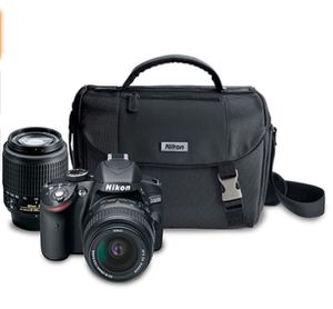 Nikon D3200 24.2 MP CMOS Digital SLR Camera with 18-55mm and 55-200mm Non VR bundle for Sale in San Diego, CA