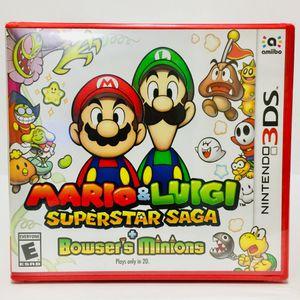 Mario & Luigi Superstar Saga+Bowser's Minions Nintendo 3DS for Sale in Bothell, WA