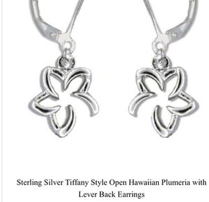 Sterling Silver Tiffany style Plumeria Earrings for Sale in San Antonio, TX
