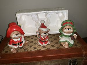 Vintage set of 3 HOMCO Christmas Bears 5600 holiday decor Taiwan for Sale in West Valley City, UT