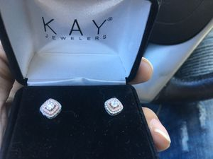 Kay jewelers diamond earrings white gold rose gold for Sale in Takoma Park, MD