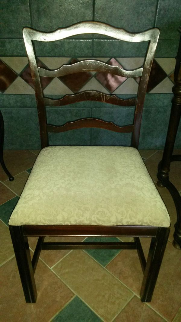 4 Beautiful solid cherry wood chairs