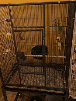 Bird Cage With Water And Food Bowls And A Couple Toys for Sale in Lilburn,  GA