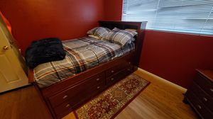 Full bed frame with storage for Sale in Los Angeles, CA
