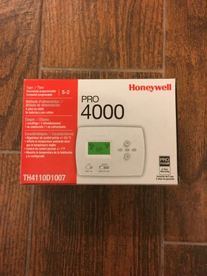 Honeywell Pro 4000 Programmable Thermostat for Sale in Taylors, SC