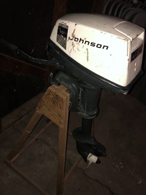 Motor outboard jhonson 4 HP It works perfectly, I sell it because I need one of more hp for Sale in Wood Dale, IL