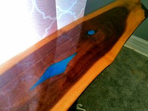 Live edge, blue river console/entryway table for Sale in OH, US