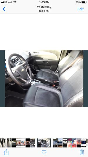 2013 Chevy sonic LTZ También hablo español Fully loaded LTZ Turbo Leather seats sunroof Fresh oil change done First Owner 25k miles Great car f for Sale in Blue Island, IL