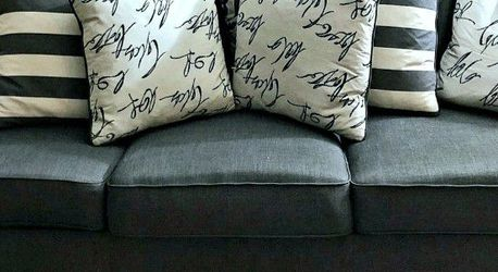 Signature Design by Ashley - Levon Classic Sofa & Loveseat Set, Charcoal Gray.. for Sale in Danville,  CA