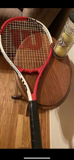 Wilson Tennis Racket With Balls for Sale in Chicago, IL