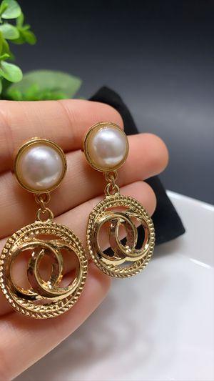 Drop Earrings Metal Geometric Gold Color for Sale in Irvine, CA