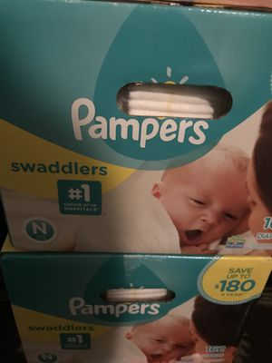 Pampers 2 boxes 20$ a piece for Sale in Baltimore, MD