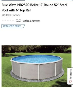 Blue Wave NB2520 Belize 12' Round 52'' Steel Pool with 6'' Top Rail for Sale in Fontana, CA