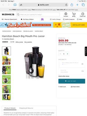 Hamilton Beach Juicer for Sale in O'Fallon, MO