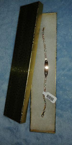 14k solid gold baby ID bracelet/ Pulsera de oro de 14k para niña for Sale in Manassas Park, VA