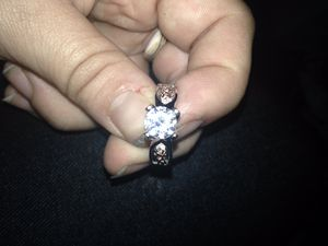 1/4 carat white topaz set in solid sterling silver wedding/engagement ring for Sale in Terre Haute, IN