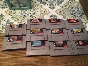 Super Nintendo games for sale !!! for Sale in Los Angeles, CA