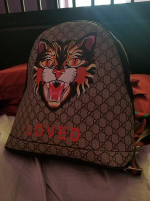 gucci angry cat supreme GG backpack for Sale in Seattle, WA