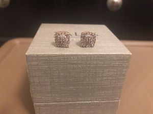 Rose Gold Champagne diamond earrings for Sale in Bowie, MD