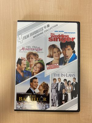 The Wedding Singer, Monster-in-Law, The In-Laws, The Bachelor DVD - LIKE NEW!!! for Sale in Waterbury, CT
