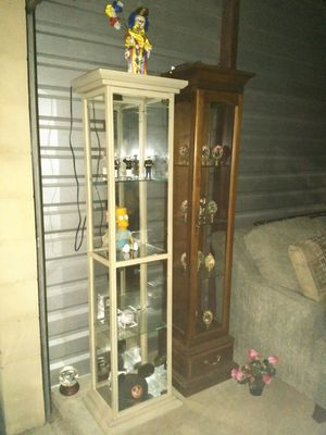 Metal and glass light up curio cabinet for sale for Sale in St. Louis, MO