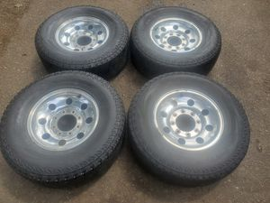 Stock f250 wheels rims and tires 8 lug for Sale in Puyallup, WA
