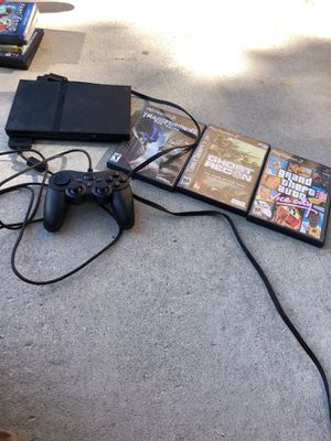 Ps2 with 3 games for Sale in West Valley City, UT