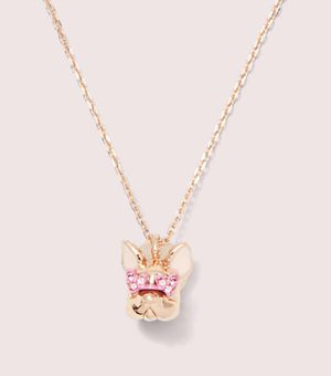 Kate Spade Heart Glasses Frenchdog necklace for Sale in Katy, TX