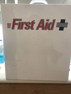 3 shelves first aid metal cabinet kit for Sale in Glendale, AZ