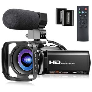 Video Camera Camcorder FHD 1080P 30FPS Vlogging Camera for YouTube 24MP 3.0 Inch 270° Rotation Screen 16X Zoom Remote Digital Camera Camcorder with Mi for Sale in La Puente, CA