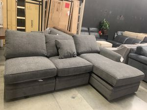 Curious Charcoal 3 piece sectional couch for Sale in Corona, CA