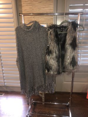 Fur Vest/ Sweater Dress for Sale in Atlanta, GA