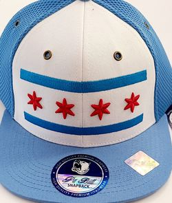 New! Chicago Flag Theme Snap Back Hat.Flat Bill. for Sale in Chicago,  IL