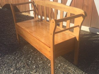 Solid Maple Bench With Storage for Sale in Olympia,  WA