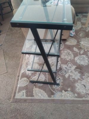 Triple deck glass shelving ! for Sale in Salt Lake City, UT