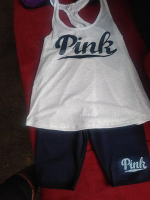 Navy blue tank Pink short set for Sale in Amarillo, TX