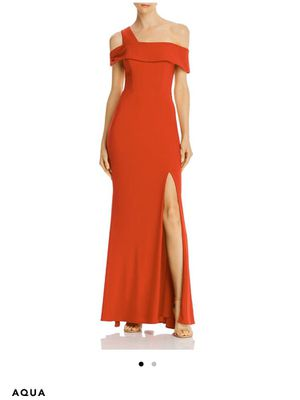 Exclusive Bloomindales Evening Red Off The Shoulder Long Gown Dress Formal Sz 0 for Sale in San Francisco, CA