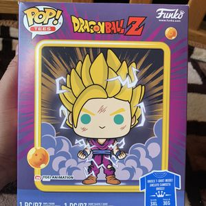 FunkoPop! Pop and Tee DBZ SS2 Gohan Glow In The Dark for Sale in Dinuba, CA