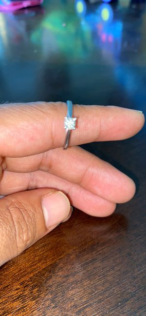 10k white gold real diamond ring for Sale in Raeford, NC