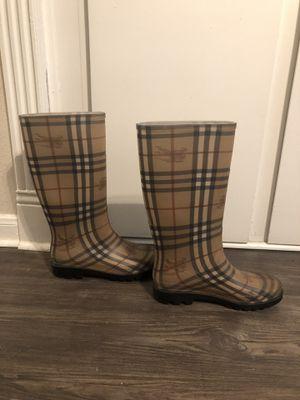 Authentic Burberry Rain Boots Size 40 for Sale in Dallas, TX