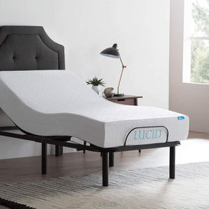 LUCID L100 Adjustable Bed Base Steel Frame - 5 Minute Assembly - Head and Foot Incline for Sale in Rio Linda, CA