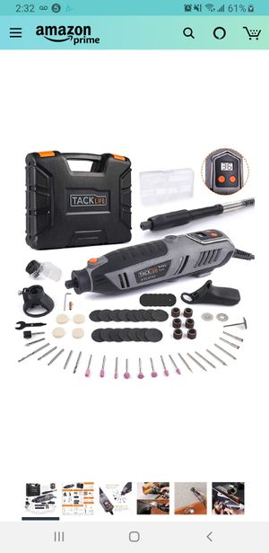 New in sealed box, TACKLIFE Rotary Tool Kit 1.8 Amp Power with LCD Display 4 Attachment Including Flex Shaft, Shield, Grip and Cutting Guide for Sale in Tustin, CA