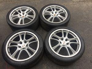 "Porsche 21"" OEM Cayenne GTS wheels & Tires 5x130 for Sale in Chicago, IL"