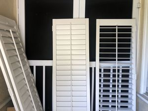Beautiful set of white shutters 5.5 x 24.5 for Sale in Claremont, CA