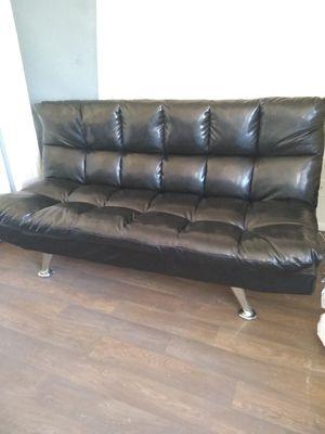 Black leather futon for Sale in Phoenix, AZ